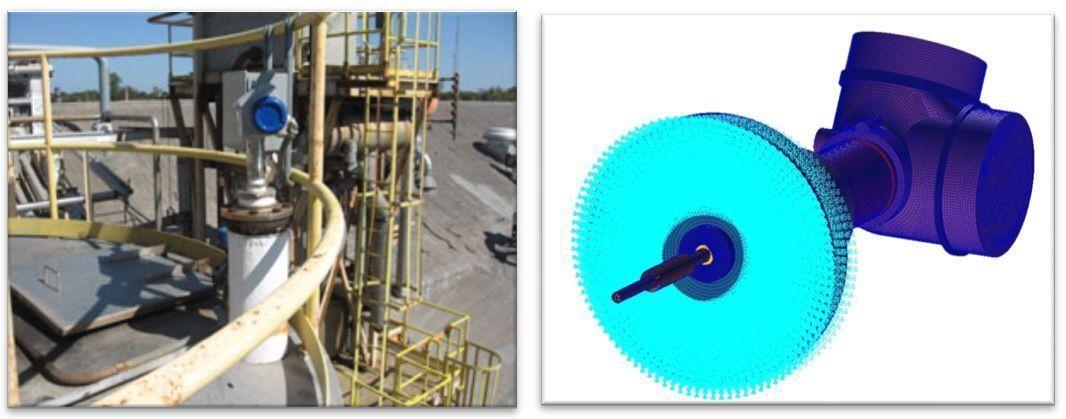 Detalle de la instalación y condición de empotramiento aplicada
