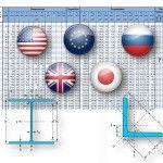 Tablas de perfiles metálicos de varios paises