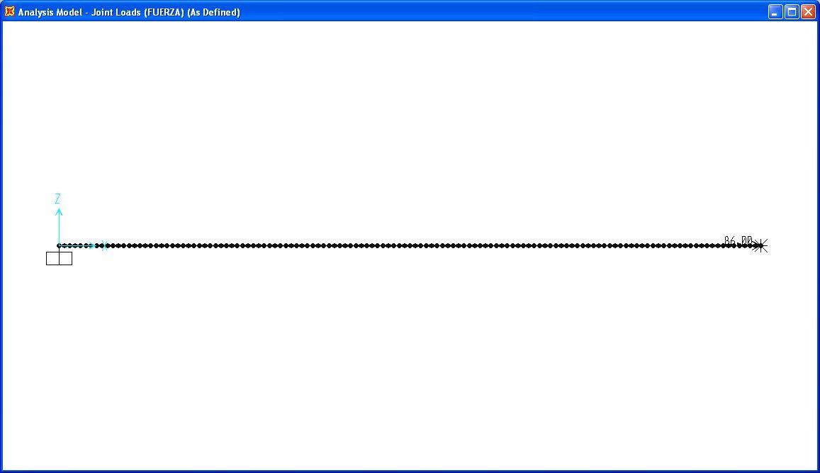 Caracterísicas generales del modelo SAP realizado. Fuente: elaboración propia