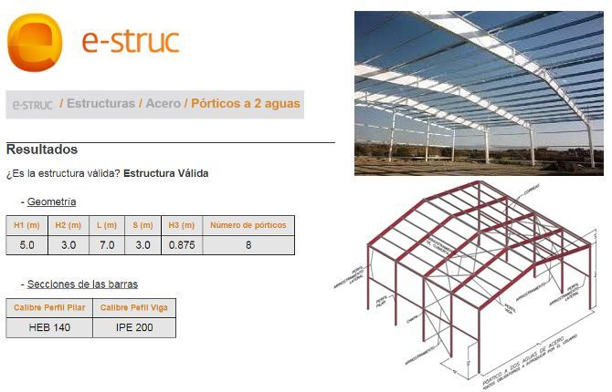 E struc una aplicaci n online para calcular estructuras for Programa interiorismo online
