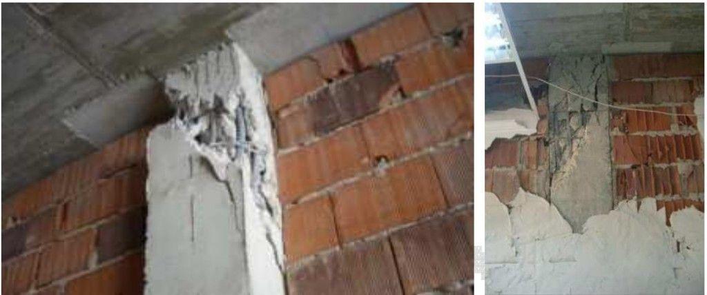 daños en pilares por sismo