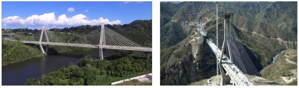 Pilas diamantes en puentes atirantados